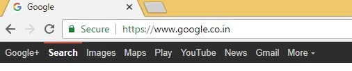 Chrome Home page with Google site