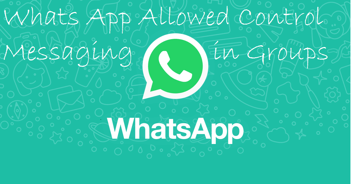 Whats App Send Messages Group Control Activated