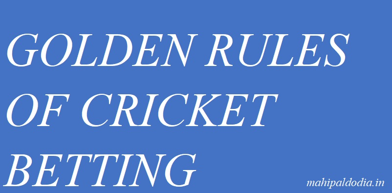 Betting Tips Free Golden Rules