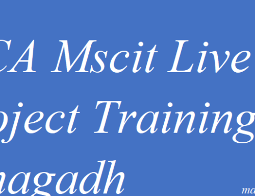 MCA Mscit Live Project Training Junagadh