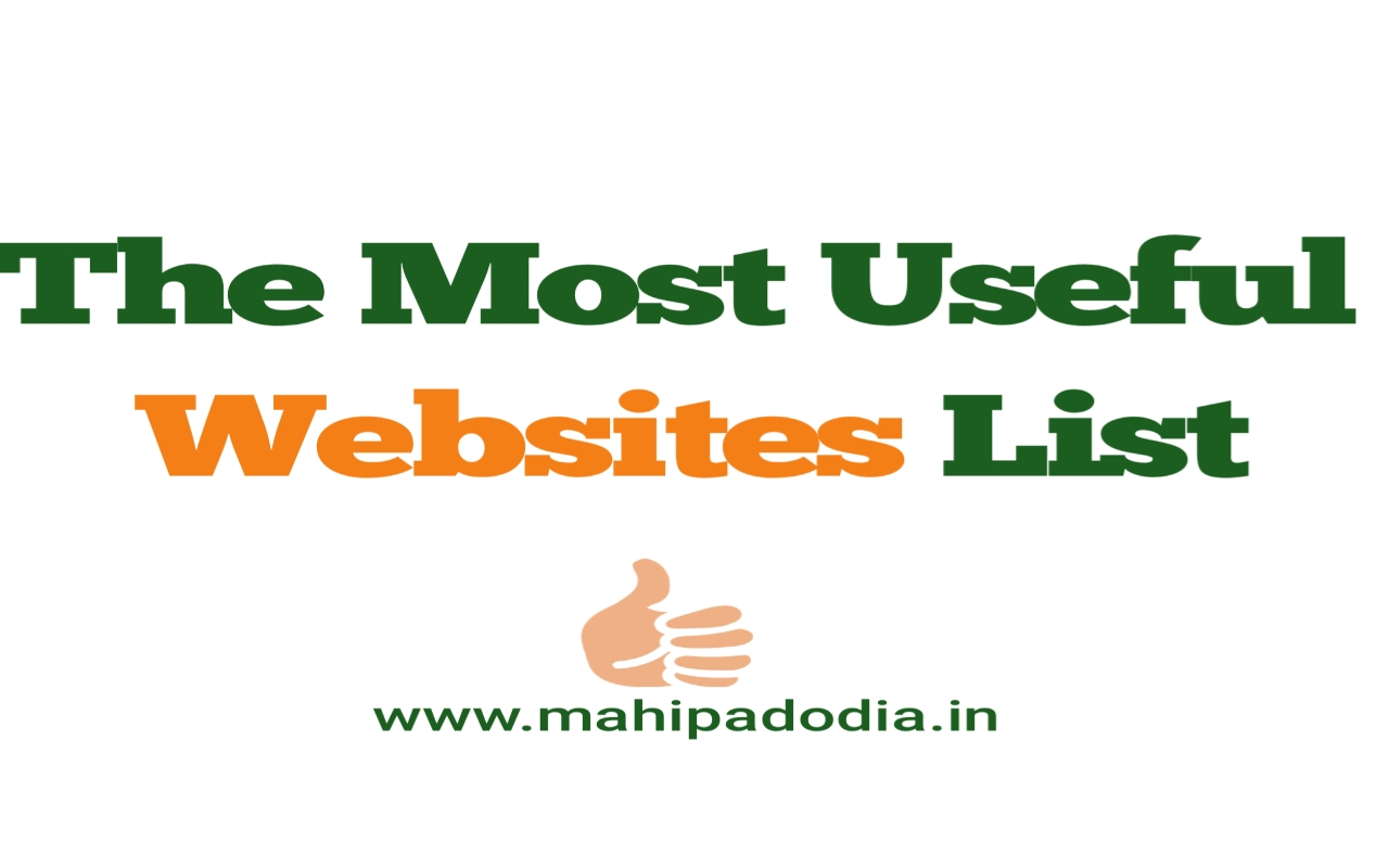 Most Useful Websites List