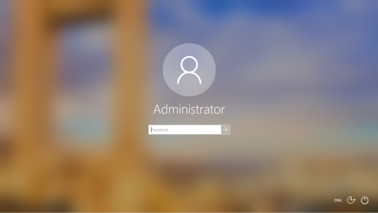 Windows 10 User Profile Login Screen